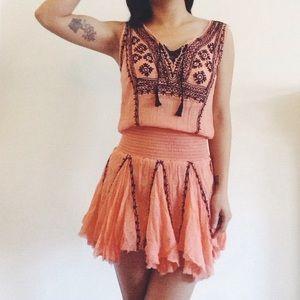 Free People Sz Lg Fez Dress
